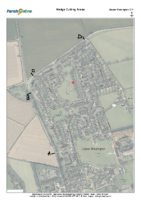 Plan B – Areas for hedge cutting – Upper Rissington – ABCD