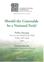 CPRE – Cotswolds National Park Meeting 26 April