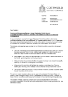 Letter – Upper Rissington PC