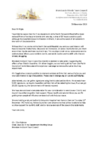 Moreton TC – X ray Letter to local Councils