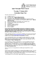Nomination Paper Pack – Upper Rissington Parish Council