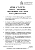 Notice of Election 27 Sept 2018
