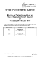 Notice of Uncontested Election 28012019