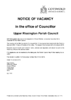 Notice of Vacancy – Upper Rissington 10012018