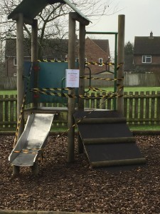 Play equipment - out of order
