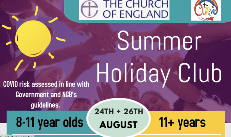 Summer Holiday Club. 24-26 August 2020