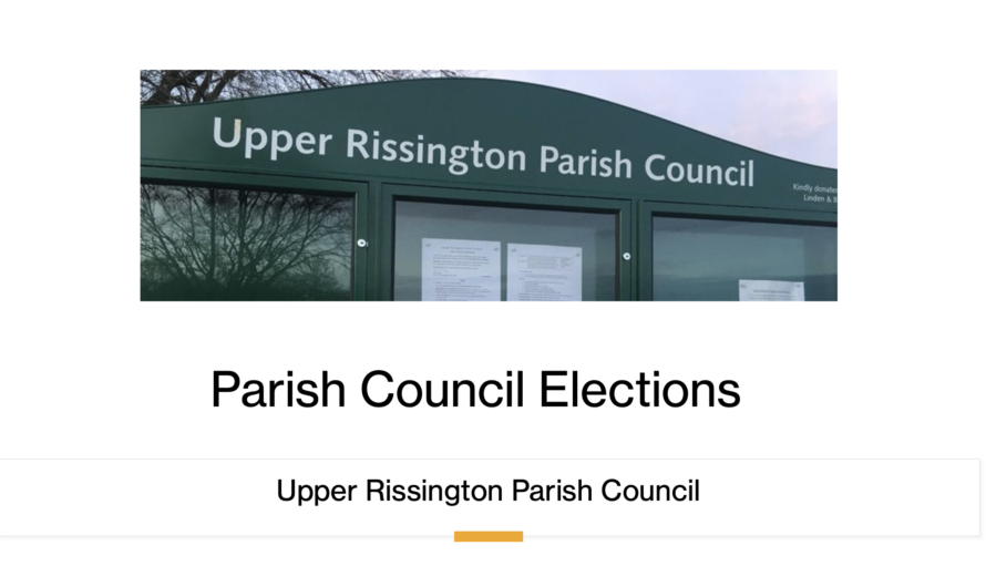 Notice of uncontested election.