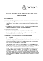 Upper Rissington CGR – Information Sheet