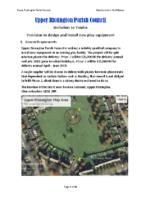 Upper Rissington Full Tender – Play Area – April 2018 – FINAL