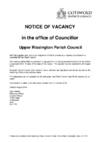 Upper Rissington Notice of Vacancy – 08082018