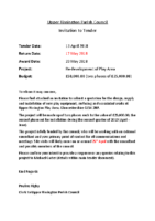 Upper Rissington Parish Council – Invitation Letter Play Area